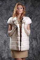 Жилет из норки NAFA (Канада) цвета жемчуг real mink fur vest gilet, фото 1