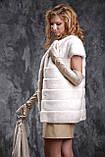 Жилет з норки NAFA (Канада) кольору перли real mink fur vest gilet, фото 2