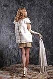 Жилет з норки NAFA (Канада) кольору перли real mink fur vest gilet, фото 3