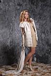 Жилет з норки NAFA (Канада) кольору перли real mink fur vest gilet, фото 5