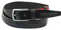 Кожаный ремень Skipper 110-130 x 3.5 см Черный 1047-35, КОД: 390129