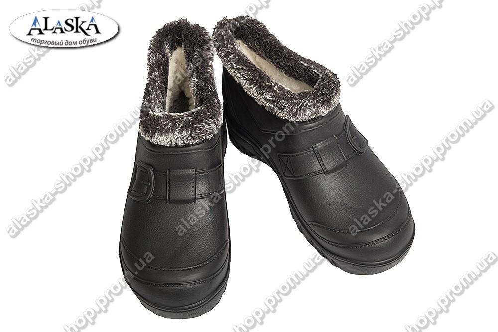 Мужские галоши меховые черные (Код: Б-16 мех)