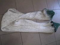 Сеть из нитки,ячейка 40мм,белого цвета,одностенка,длина 100м,высота 2м.