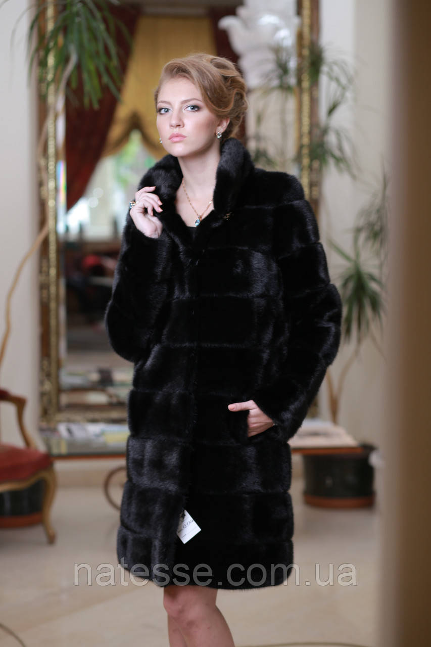 Шуба из норки BlackGlama mink fur coat fur-coat furcoat