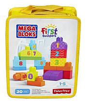 Mega Bloks Вчимося рахувати 20 деталей First Builders 1-2-3 Count 20 pcs