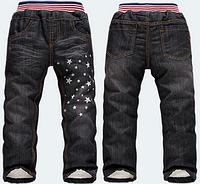 Тёплые джинсы на меху для мальчика с 2-3 года