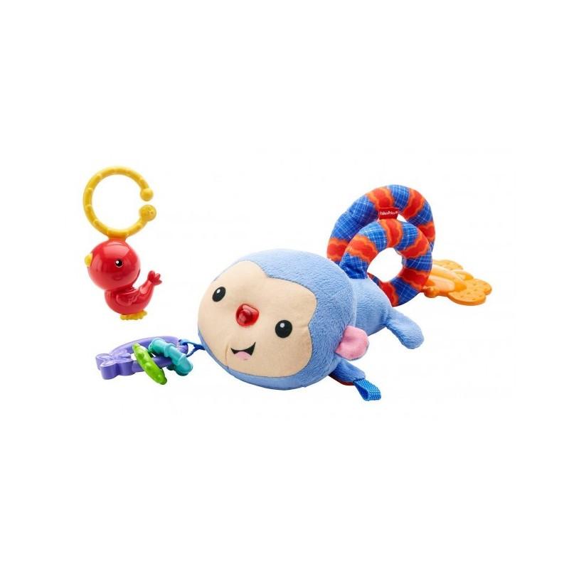 Fisher-Price Игрушка для коляски Обезьянка и ее друзья Rainforest Stroller Pals