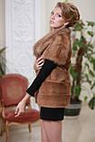 Жилет з канадської норки і канадського соболя canadian real mink fur vest gilet, фото 2