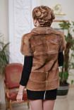 Жилет з канадської норки і канадського соболя canadian real mink fur vest gilet, фото 3