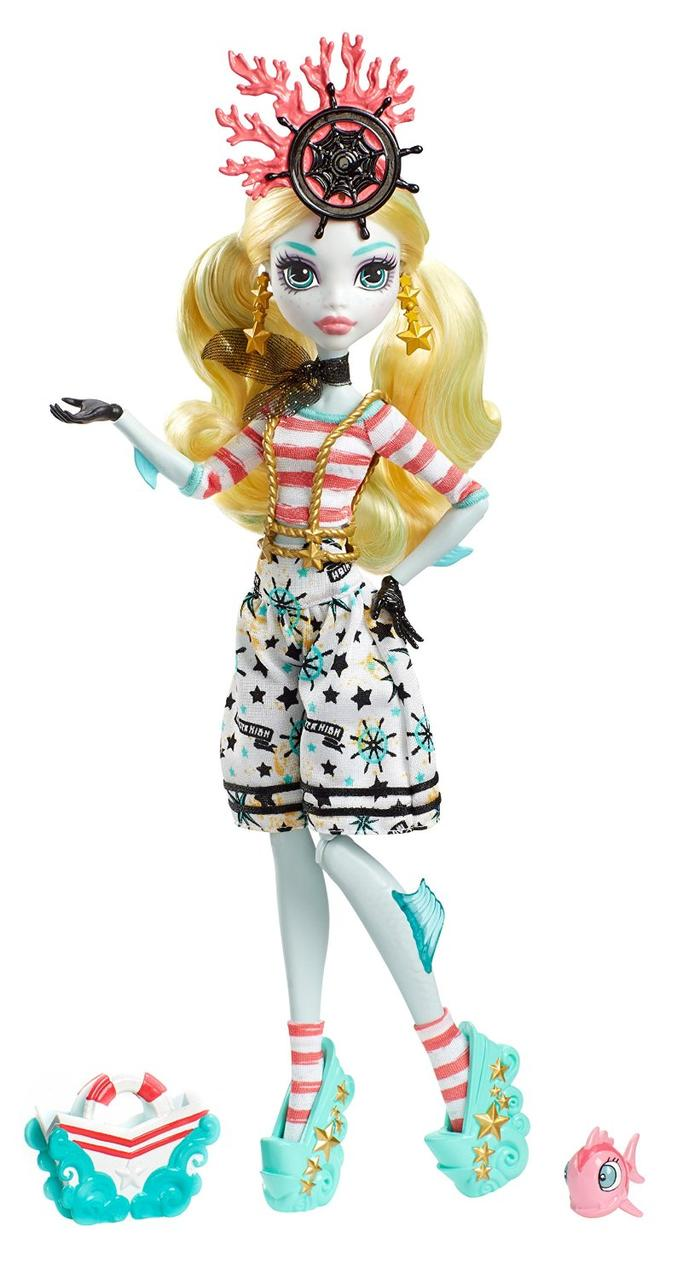 Monster High Лагуна Блю из серии Пираты Shriekwrecked Nautical Ghouls Lagoona Blue Doll