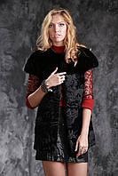 Жилет из датской норки и каракульчи real mink fur vest gilet, фото 1