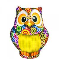 Антистрессовая игрушка SOFT TOYS - Сова с корзинкой Оригинал