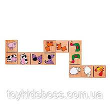 """Настільна гра Viga Toys Доміно """"Тварини"""" (59622)"""