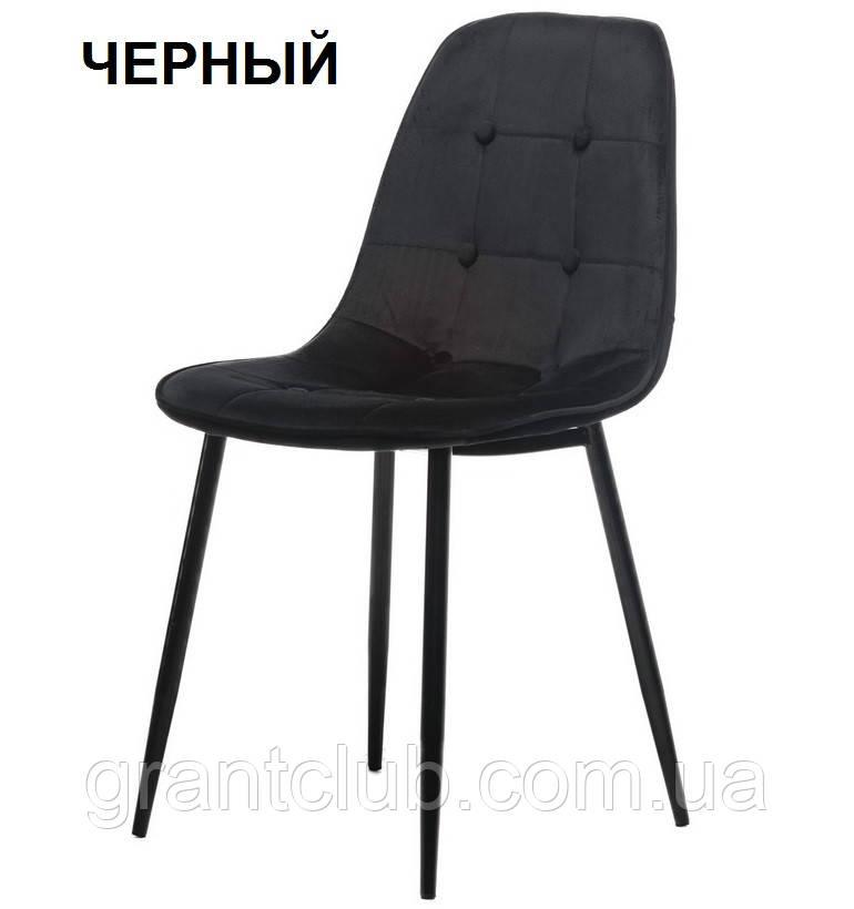 Мягкий стул M-01-3 черный вельвет Vetro Mebel