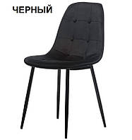 Мягкий стул M-01-3 черный вельвет Vetro Mebel, фото 1
