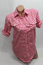 Женская молодежная рубашка в клетку оптом в Хмельницком