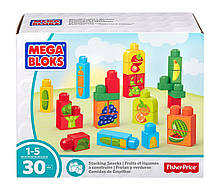 Mega Bloks Перші будівельники Овочі і фрукти 30 деталей First Builders Stacking Snacks Building Kit