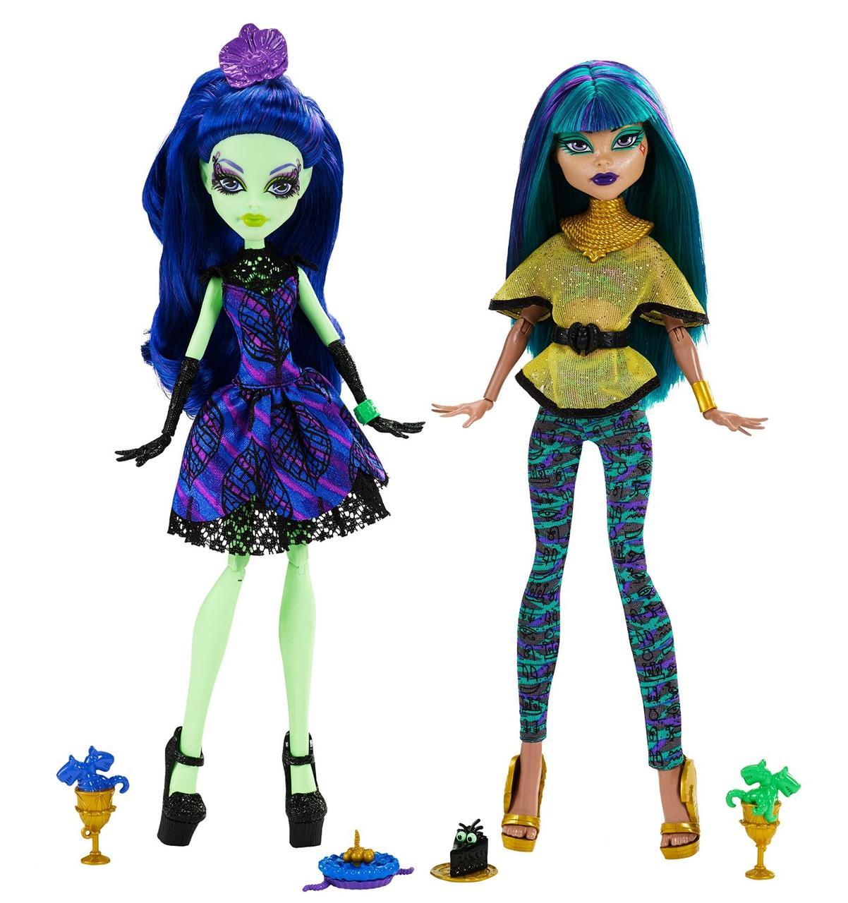 Monster High Нефера де Нил и Аманита Найтшейд Крик и сахар Amanita & Nefera Scream And Sugar 2 Pack DMD73