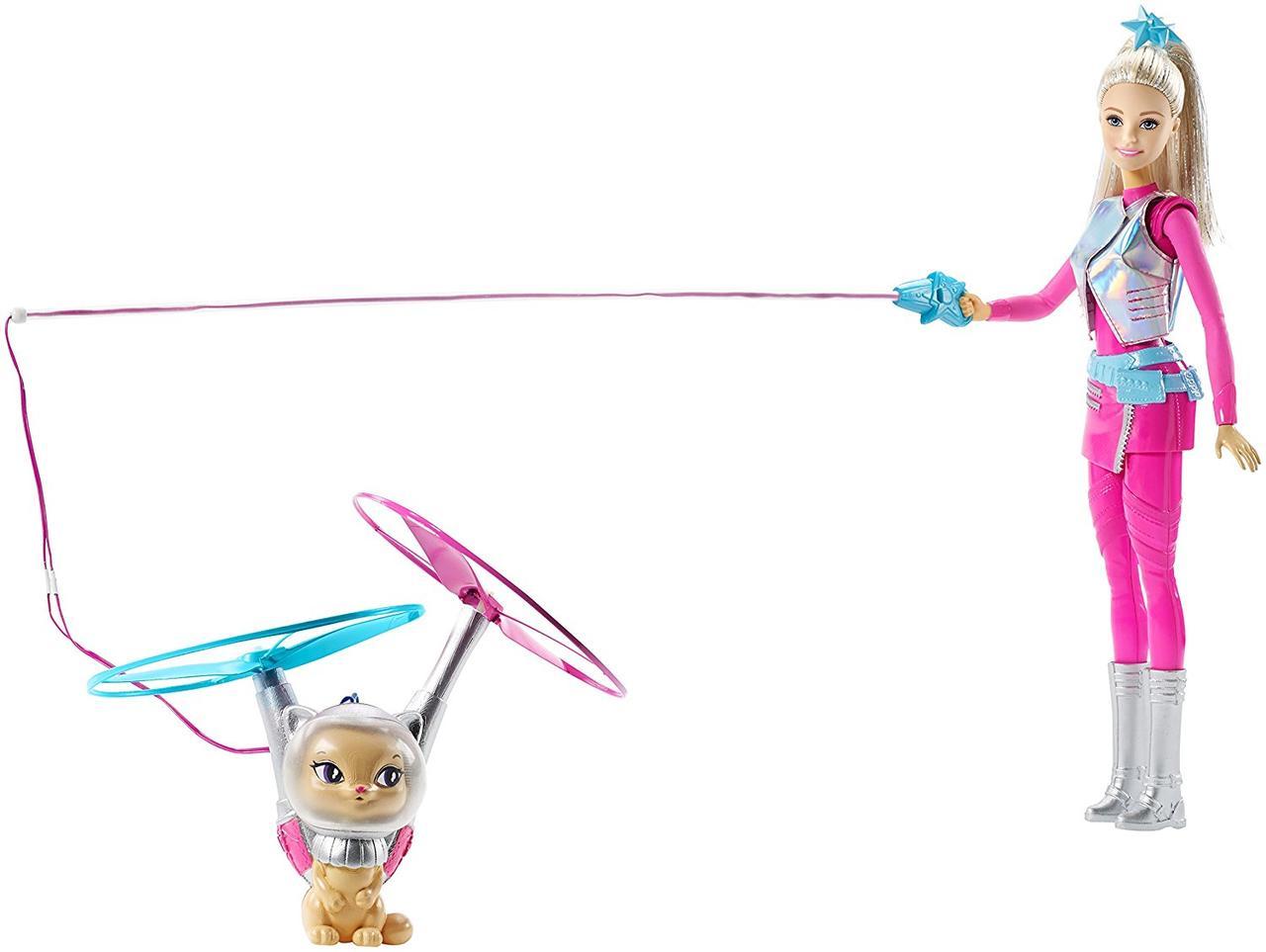 Barbie Барби и космический котик из серии Космическое приключение Star Light Galaxy Barbie Doll & Flying Cat