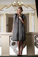 """Жилет из чернобурки """"Люсьена"""" SAGA Silver fox  fur vest gilet sleeveless , фото 1"""