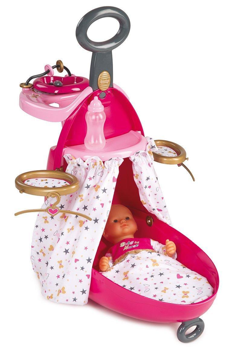 Smoby Чемодан-кровать-стульчик для куклы розовый Baby Nurse 220316