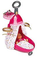 Smoby Чемодан-кровать-стульчик для куклы розовый Baby Nurse 220316, фото 1