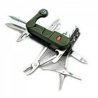 Складной карманный нож STINGER 18 в 1 Зеленый DN18870, КОД: 285105