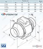 ВЕНТС ТТ 125 круглый канальный вентилятор (VENTS TT 125), фото 6