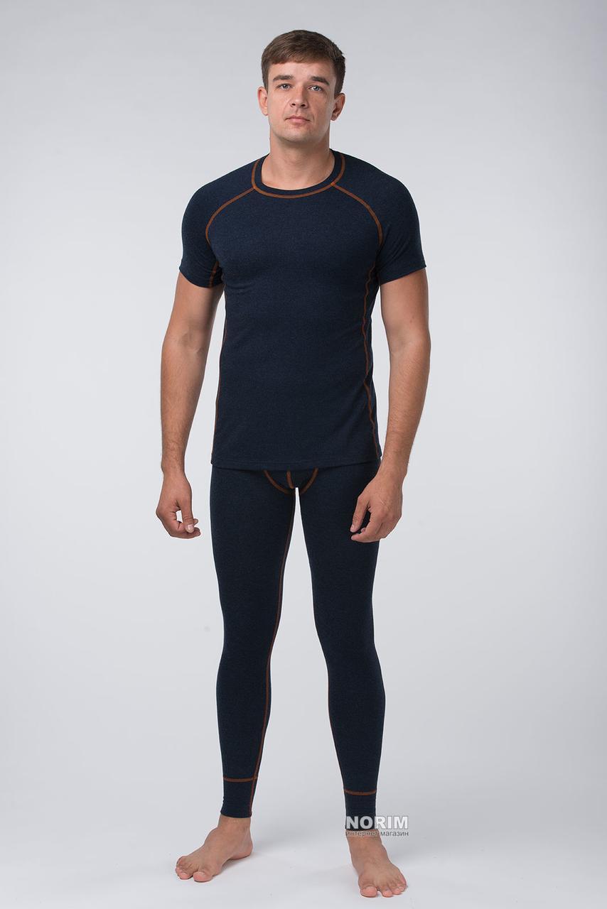 Термокомплект мужской KIFA с футболкой (КМО-621 Ш) Темно-синий оранжевая строчка