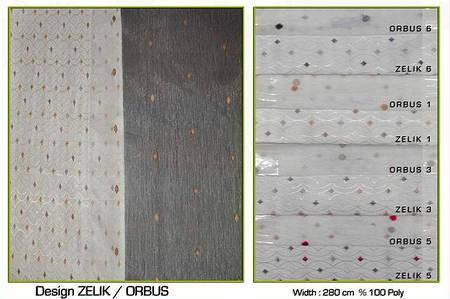 Ткань для штор Zelik, тюль Orbus
