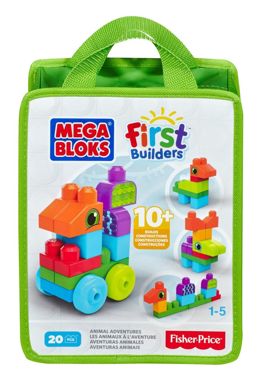 MEGA Bloks First Builders Первые строители Приключения животных Animal Adventures Playset CNH10