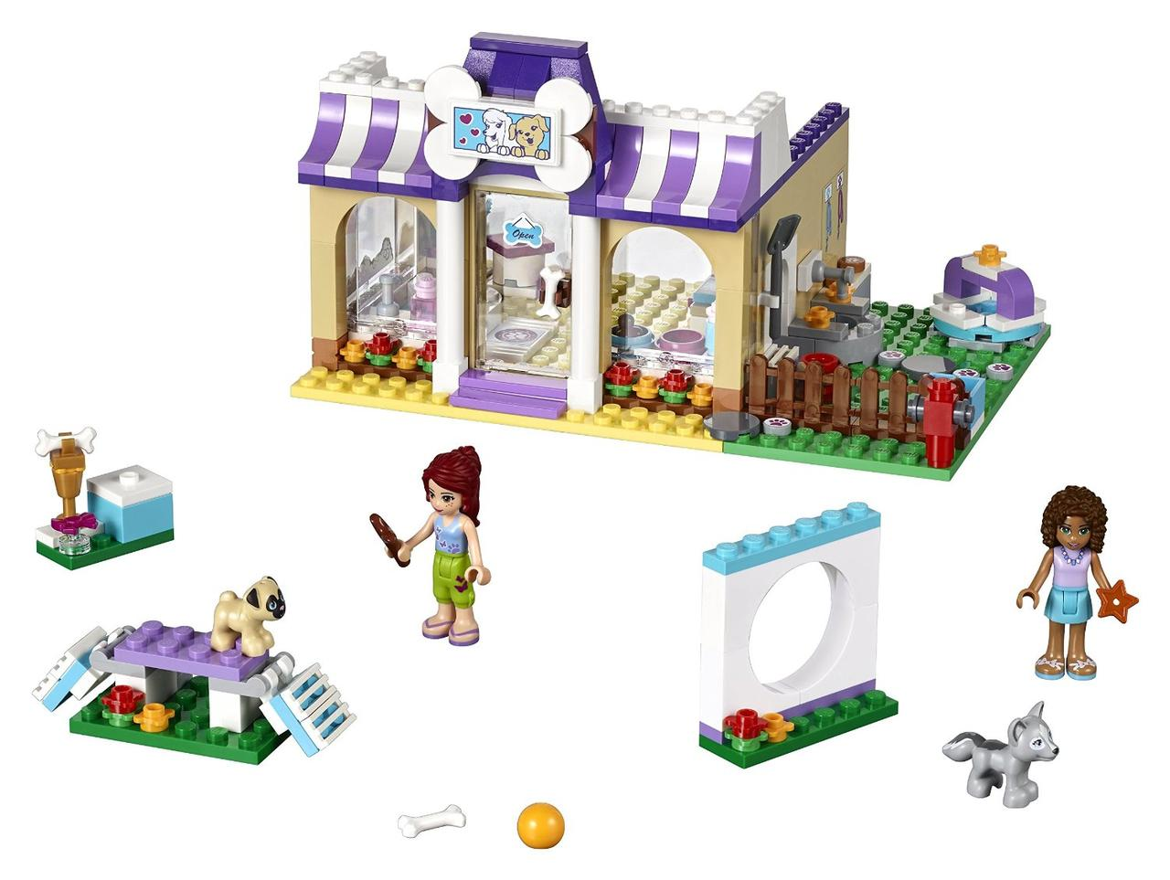 LEGO Friends Детский садик для щенков в Хартлейке Heartlake Puppy Daycare Building Kit 41124