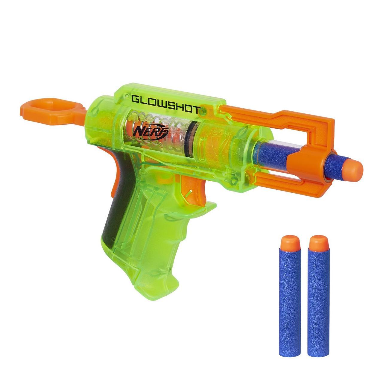 Nerf Бластер Элит Глоушот зеленый N-Strike GlowShot Blaster B4615