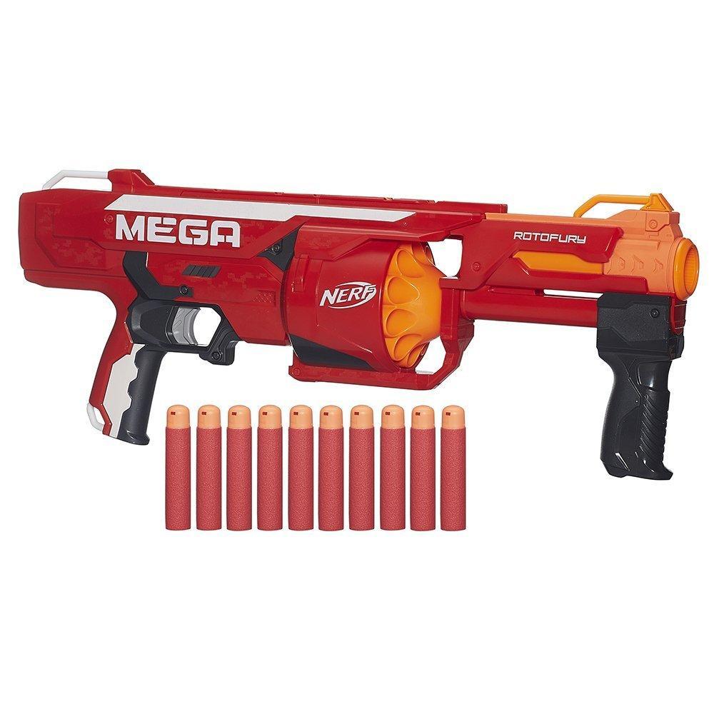 NERF Мега Бластер Ротофьюри N-Strike Mega Series Roto Fury Blaster B1269