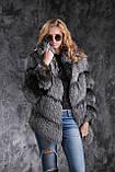 Шуба полушубок жилет из чернобурки SAGA silver fox fur coat jacket vest gilet, фото 4