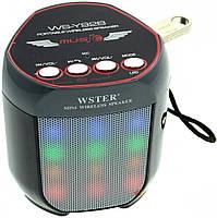 Портативная колонка WSTER WS-Y92B с подсветкой Черный 1em006055, КОД: 897777