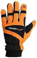 Велоперчатки PowerPlay 6906 S Черно-оранжевый, КОД: 1293155