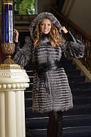 Шуба жилет жилетка из чернобурки silver fox fur coat jacket vest gilet, фото 1