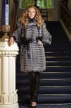 Шуба жилет жилетка из чернобурки silver fox fur coat jacket vest gilet, фото 2