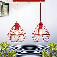 """Подвесной металлический светильник, современный стиль, loft, vintage  """"CLASSIC-2R"""" Е27  красный цвет"""