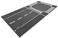 LEGO City Набор строительных пластин прямая трасса и перекресток Town Straight and Crossroad Plate 7280 Building Kit