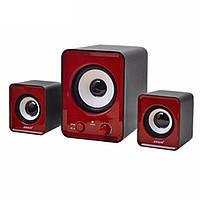 Колонки для компьютера 2.1 Mini IS-12 Red 006915, КОД: 1313411