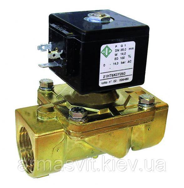 Электромагнитные клапаны для нефтепродуктов, воды, воздуха 21H13KOV190, G 3/4', комбинированного действия.