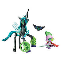 My Little Pony Королева Кризалис и дракончик Спайк серии Стражи Guardians of Harmony Queen Chrysalis v. Spike the Dragon, фото 1