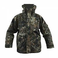 Куртка тактическая MIL-TEC ветро-влагозащитная с флисовой подстежкой Flecktarn, фото 1