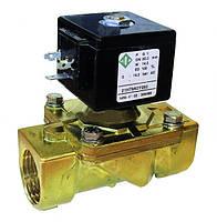 Электромагнитные клапаны для воды, воздуха 21H14KOB250, G 1', комбинированного действия.