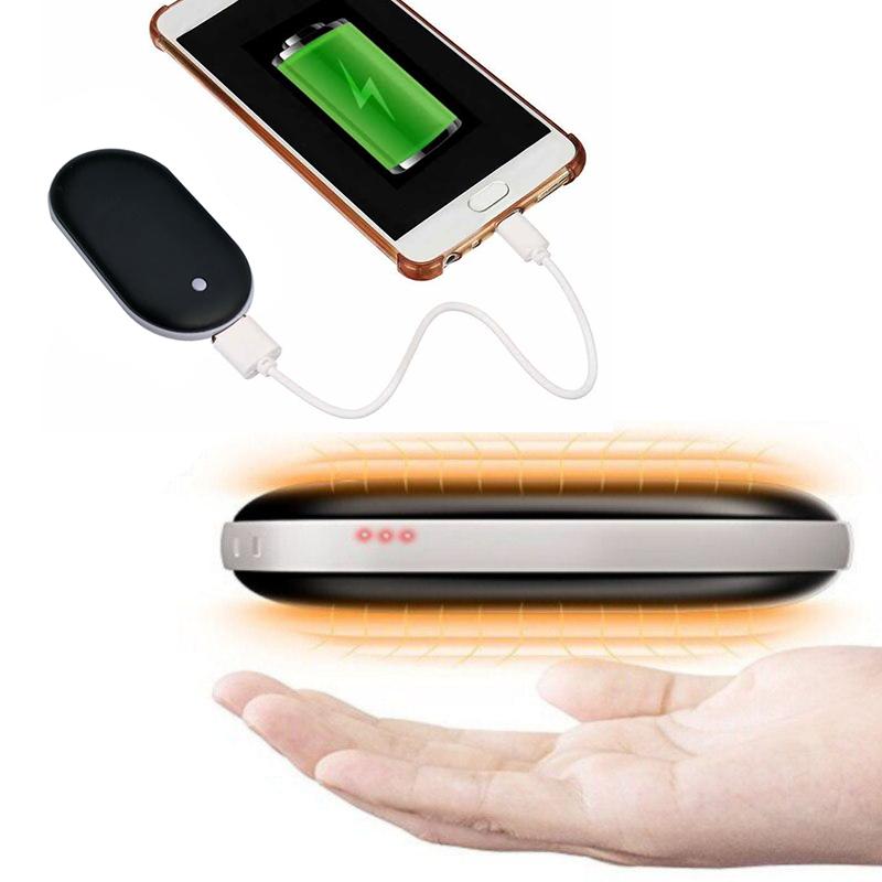 Грелка-повербанк для рук Pebble Hand Warmer PowerBank 5000 mAh черный