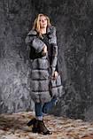 Жилет из чернобурки SAGA с отстегивающимся подолом Silver fox fur vest gilet sleeveless, фото 2
