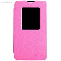Чехол Nillkin Sparkle Leather Case для LG L80 (D380) Hot Pink
