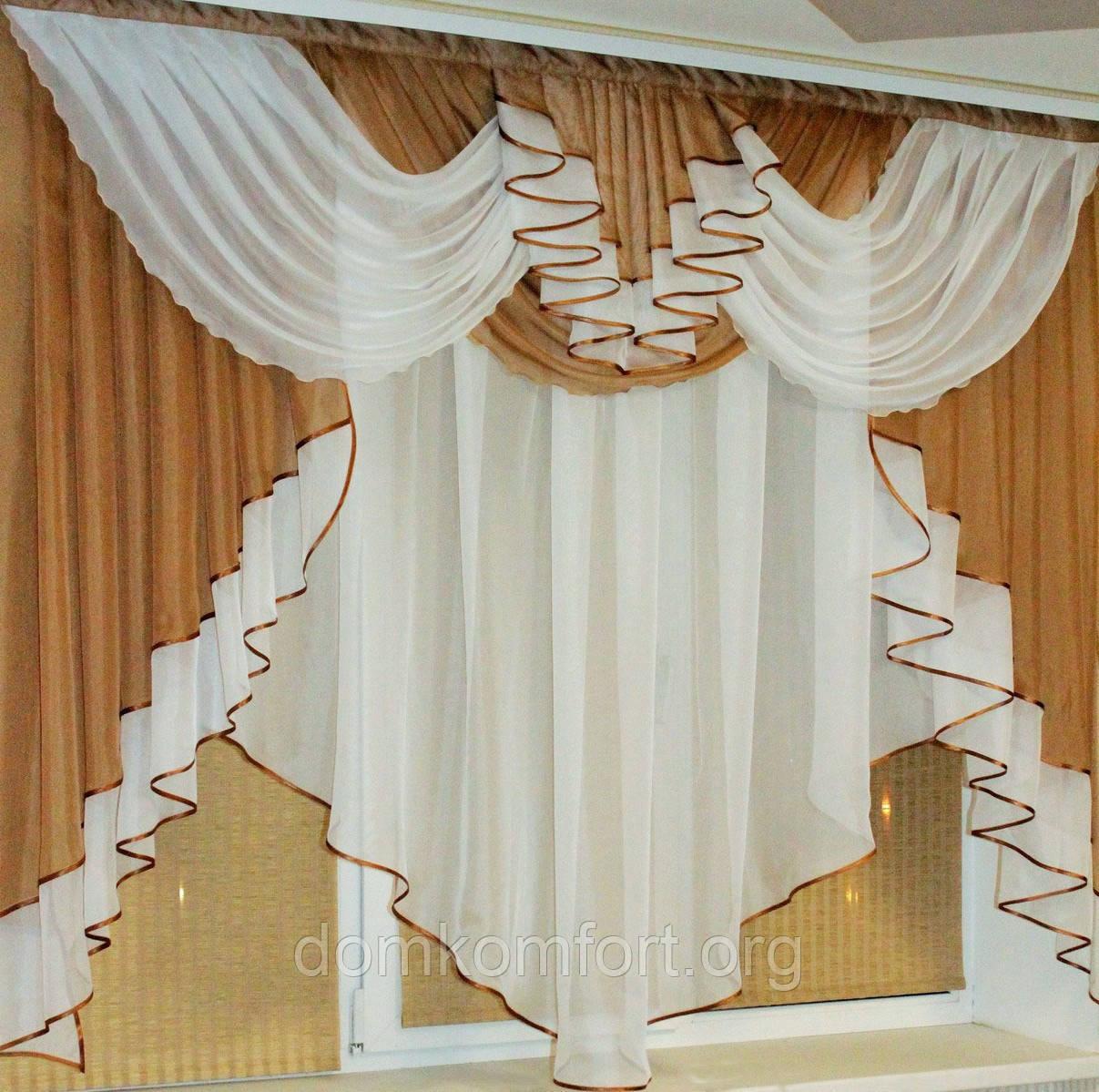 Ламбрекен штора выкройка